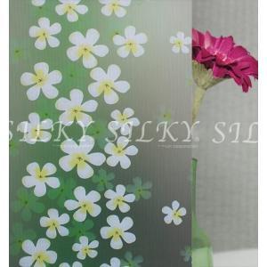 ws-2039[ハワイアンプルメリア・のりつき]1m×幅90cmステンドグラス風ガラスフィルム 窓飾りシート すりガラスOK 防水 断熱 送料無料   ステッカー ウィンド siruki 05