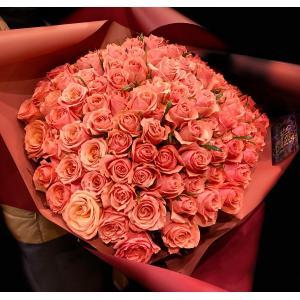 期間限定価格 ピンクバラ100本ラウンド 結婚祝い クリスマス バレンタイン ホワイトデー 誕生日 花 フラワー ギフト プレゼント 到着後レビューを書いて送料無料|sissi
