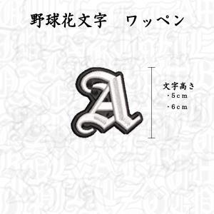 1文字 オリジナル 刺繍 ワッペン ネーム オーダー