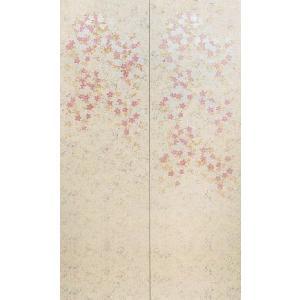 壁画風壁紙 枝垂桜(2枚1組) 裏面糊なし 幅184cm×高さ300cm (かべ紙/クロス//張替) siturai