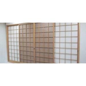 デザイン障子紙 紙布(茶)  95cm×200cm 2枚入り (障子紙/しょうじ紙/張替)|siturai