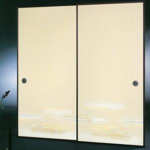 高級織物襖紙 伝統手加工襖絵 No.166 2枚組 (襖紙/ふすま紙/松/張替)|siturai