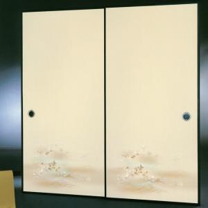 高級織物襖紙 伝統手加工襖絵 No.170 1枚物 (襖紙/ふすま紙/松/張替)|siturai