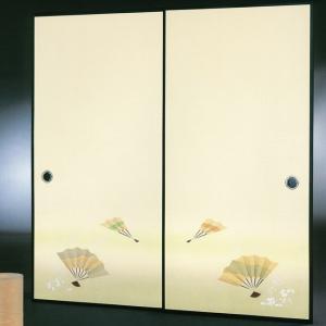 高級織物襖紙 伝統手加工襖絵 No.175 2枚組 (襖紙/ふすま紙/松/張替)|siturai