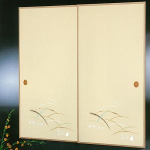 高級織物襖紙 伝統手加工襖絵 No.177 1枚物 (襖紙/ふすま紙/松/張替)|siturai