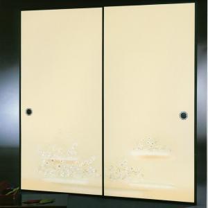 高級織物襖紙 伝統手加工襖絵 No.181 2枚組 (襖紙/ふすま紙/松/張替)|siturai