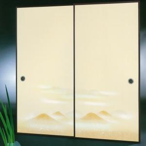 高級織物襖紙 伝統手加工襖絵 No.182 2枚組 (襖紙/ふすま紙/松/張替)|siturai