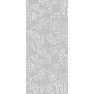 おしゃれなデザイン襖紙 おりひめ No.021(藤と波) 鳥の子和紙使用 (襖/ふすま紙/モダン/和紙/オシャレ/張替)