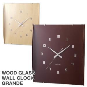 IDEA イデア/ウッドガラスクロックグランデ(壁掛け 時計/四角) sixem-shop