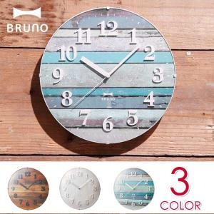 BRUNO(ブルーノ) 電波ビンテージウッドクロック sixem-shop