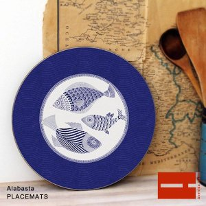 AVENIDA HOME(アヴェニダ・ホーム)Alabasta PLACEMATS(アラバスタ プレイスマット) Blue Fish|sixem-shop
