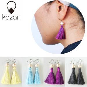 kazari(かざり) 絹(シルク)タッセルピアス|sixem-shop