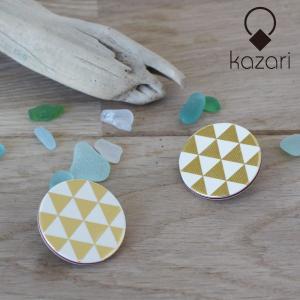 kazari(かざり) 重ね紙飾り ピアス・イヤリング ラウンド(大)|sixem-shop