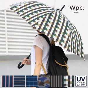 wpc(ワールドパーティー)UNISEX ロングアンブレラ (カサ/長傘/UV加工/ジャンプ傘/ワンタッチ)|sixem-shop