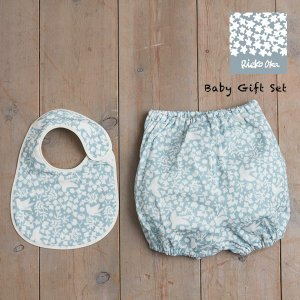 QUARTER REPORT(クォーターリポート) 岡理恵子 Baby Gift Set (ベビーギフトセット) 【小鳥】スタイ・ブルマパンツ sixem-shop