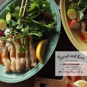 Bread and Rice (パンとごはんと...) 美濃焼 一洋窯 リムドットオーバルプレートL...