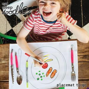 eat sleep doodle(イート スリープ ドゥードゥル)placemat to go(お絵描きできるランチョンマット) sixem-shop