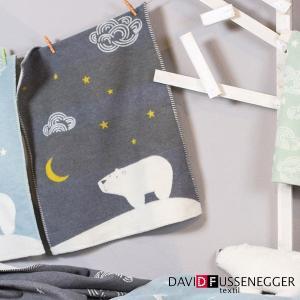 月夜とシロクマのブランケット 65×90cm/DFブランケット|sixem-shop