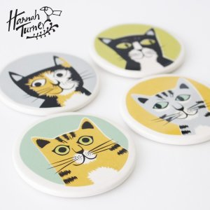 Hannah Turner(ハンナターナー) Cat Coasters Set Of 4 コースター4枚セット|sixem-shop