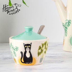Hannah Turner(ハンナターナー) Cat Sugar Pot シュガーポット 250ml|sixem-shop
