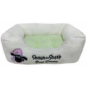 Sheep Dreams ショーン スクエアベッド グリーン S|sixpetdogs