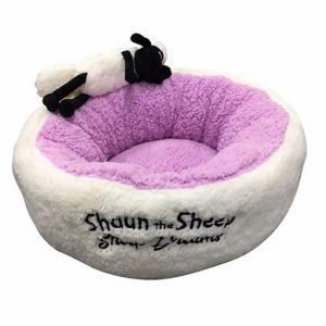 Sheep Dreams ショーン ラウンドベッド パープル S|sixpetdogs