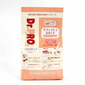 Dr.PRO 3フィッシュ2ポテト800g|sixpetdogs