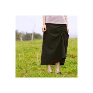 手織綿シャーリングスカート sizen
