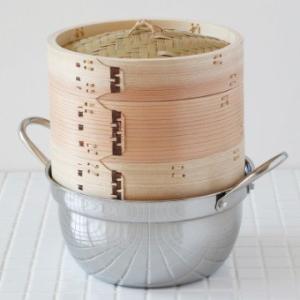 中華せいろ 蒸篭(セイロ)ステンレス鍋18cm セット sizen