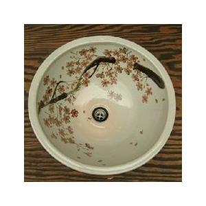 洗面ボール 赤桜(大) sizen