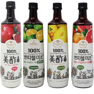 美酢 ミチョ 4本セット(ザクロ、カラマンシー、パイナップル、グレープフルーツ)コストコ 飲むお酢 果実酢 くだもの酢 フルーツ酢