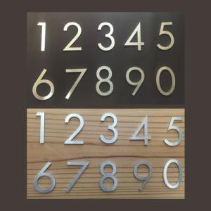 H40mm 数字 フーツラ体 1文字 ステンレス 切り文字 表札 サイン 部屋番号 番地 住所 貼りつけるだけ