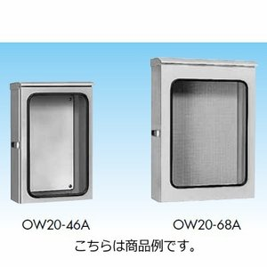 日東工業 OW20-68A OW-A形大型窓付キャビネット 鉄製基板 深さ200mm ライトベージュ色|sk-r