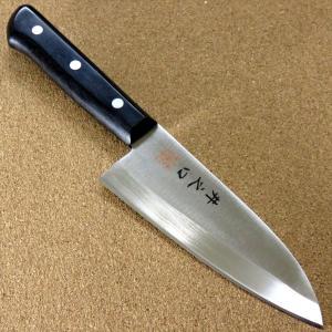 関の刃物 出刃包丁 14cm (140mm) 井之口 AUS-8 クロムモリブデン ステンレス 魚 ...