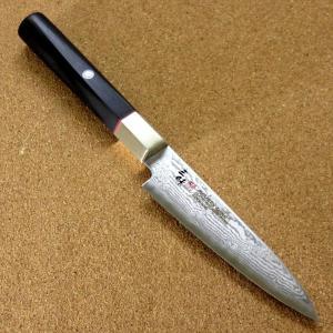 関の刃物 ペティナイフ 11cm (110mm) 三昧 ハイブリッド スプラッシュ ダマスカス33層...