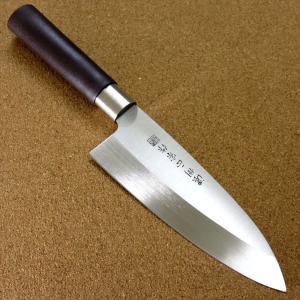関の刃物 出刃包丁 16.5cm (165mm) 濃州正宗作 ステンレス刃物鋼 魚 鳥 肉解体 刃先...