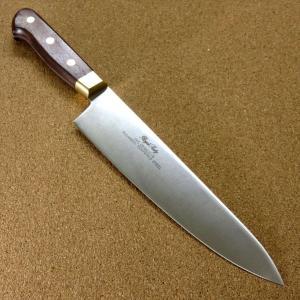 関の刃物 牛刀 20cm (200mm) Proline 8Aステンレス鋼 真鍮口金付き 家庭用 野...