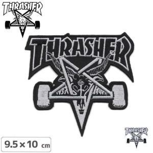 スラッシャー THRASHER スケボーワッペン Skate...