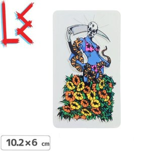 エルイー LE SKATEBOARDS ステッカー REAPER STICKER 10.2cm x 6cm NO13