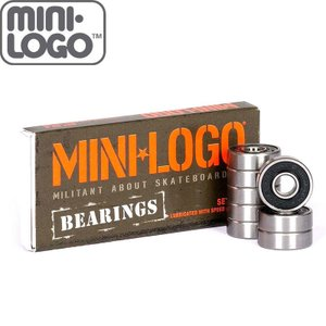 MINI LOGO ミニロゴ スケートボード ベアリング 8SET BEARING ABEC5相当 ...
