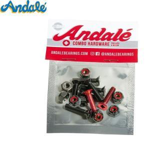 ANDALE アンダレー スケボー ハードウェア COMBO HARDWARE RED 7/8インチ...