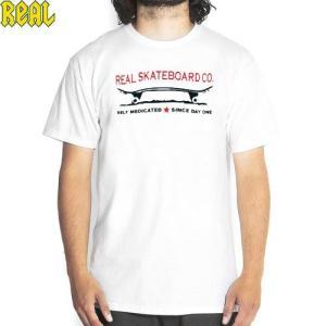 メンズ Tシャツ スケボー ブランド  REAL リアル SINCE DAY ONE TEE ホワイ...