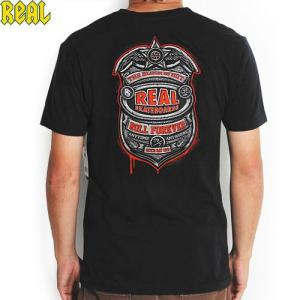 アウトレット REAL リアル スケートボード Tシャツ SECURITY T-shirt ブラック...