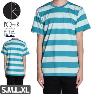 POLAR ポーラー スケボー Tシャツ POLAR X DEAR BLOCK STRIPE TEE...