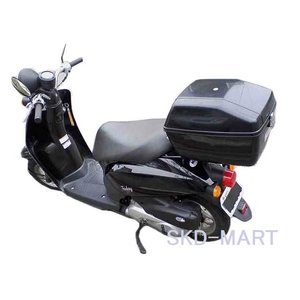 バイク用 リアボックス 黒 日本製 おしゃれなBOX バイク スクーター 自転車 ジョグ ディオ D...