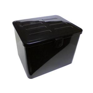 バイク用 スチール リアボックス 特大サイズ 黒  頑丈で安心な鉄製 便利なスチールボックス カブ ...