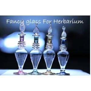 選べる4色!ハーバリウム ファンシー エジプト ガラス 瓶 エジプシャングラス(上側ふっくらS) ディスプレイ  香水瓶 ミネラルオイル 植物標本