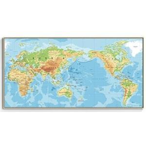 ポスター  おしゃれ アートポスター 世界地図 シリーズ デザインNO-8
