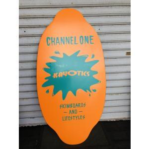 フラットスキム ランド Kayotics カヨティックス 2017「Channel-One」アクアグリーン×オレンジ Size:99.5cm×49.5cm デッキテープ付|skimpeace-store|03