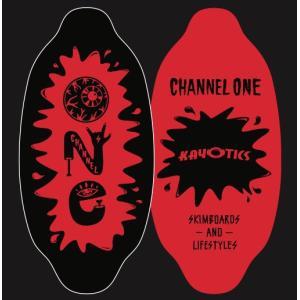フラットスキム ランド Kayotics カヨティックス 「Channel-One」ブラック×レッド Size:99.5cm×49.5cm|skimpeace-store